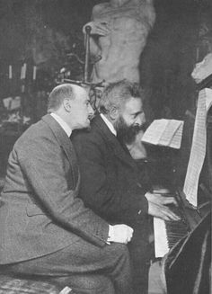 "Con il maestro Franchetti mentre compongono la musica per ""la figlia di Jorio"". Playwright, World War I, Writer, Italy, Vintage, Culture, Musica, World War One, Italia"