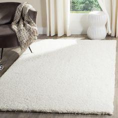 Safavieh Reno Shag White Polyester Rug (6