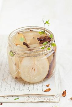 pear compote with maple syrup and spices