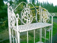 COOL ... French Country Cottage White Ivory Folding by SirGunnisonsFarm