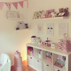 Best charming kid's room decor ideas room ideas girl room, g Big Girl Bedrooms, Little Girl Rooms, Little Girls Playroom, Pink Bedrooms, Ideas Habitaciones, Princess Room, Baby Bedroom, Ikea Girls Bedroom, Girls Bedroom Storage