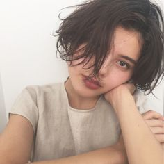 New hair long curly styles pixie cuts Ideas Tomboy Haircut, Tomboy Hairstyles, Girl Haircuts, Hairstyles Haircuts, Asian Short Hair, Asian Hair, Girl Short Hair, Short Hair Cuts, Tomboy Long Hair