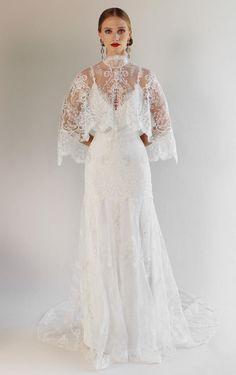 Claire Pettibone Spring 2017 | https://www.theknot.com/content/claire-pettibone-wedding-dresses-bridal-fashion-week-spring-2017