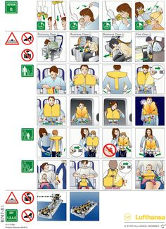 airplane safety card - Google Search
