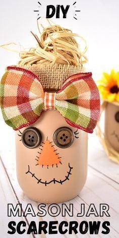 Fall Mason Jars, Mason Jar Diy, Mason Jar Crafts, Bottle Crafts, Diy Halloween Mason Jars, Mason Jar Pumpkin, Mason Jar Projects, Painted Mason Jars, Diy Projects