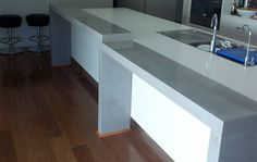 Makers Lane :: Large one piece Concrete benchtop Custom Made, Bespoke Furniture made in Australia.