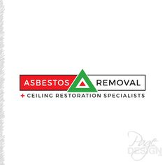 Logo design: Asbestos Removal + Ceiling Restoration Specialists, NZ Page Design, Cancer, How To Remove, Logos, Outlines, Restoration, Foundation, Ceiling, Ceilings