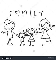 Cartoon Drawings hand drawing cartoon happy family happy lives - - Millions of Creative Stock Photos, Vectors, Videos and Music Files For Your Inspiration and Projects. Family Drawing, Drawing For Kids, Art For Kids, Drawing Tips, Drawing Drawing, Drawing Poses, Cartoon Cartoon, Cartoon Drawings, Doodle Drawings