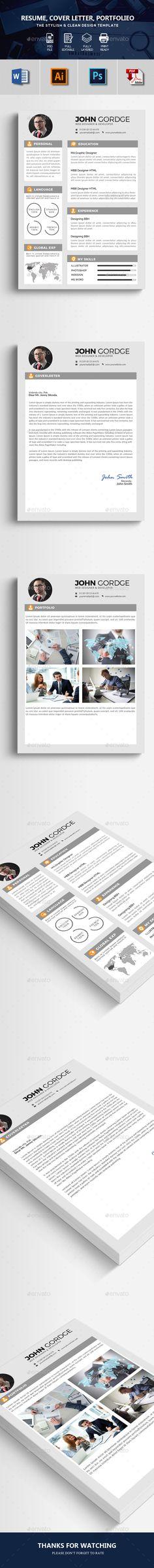 CV Resume Template PSD, AI, MS Word