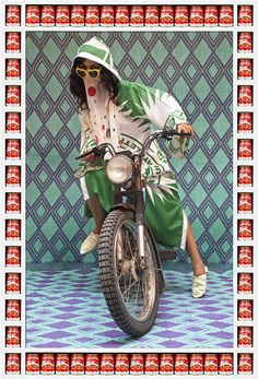 "Hassan Hajjaj, ""Kesh Angels"", a series of portraits of the biker culture among young women in Marrakech"