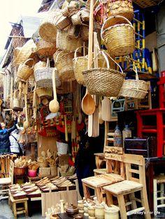 Handmade Baskets and Kitchen Utensils in Eminönü, Istanbul. @turkeysforlife.com