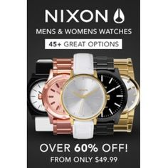 Over 60% OFF Sale on Nixon Watches @ 1-Day - Bargain Bro
