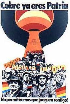 1971. Cobre ya eres Patria Latin America, 1970s, Posters, Sports, Ideas, Socialism, Patriotic Symbols, Political Posters, World History