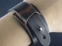 Real Leather Bracelet Wristband Handcuff Men Women