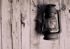 Old, rustic storm lantern