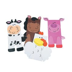 Farm Animal Friend Puppets Paper Bag Craft Kit - OrientalTrading.com