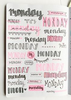 Bullet Journal Weekly Headers For You To Copy Want some inspiration for your bullet journal? Try out these super easy weekly headers in your next spread in your journal! Check out this post to find creative bullet journal weekly header ideas for every day