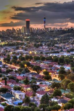 "Johannesburg was a very large and populous city which is very hard for travelers to get to a place if it is their first time there. ""One would get lost in Johannesburg if your first time. Pretoria, Johannesburg City, South Africa Safari, Cities, Out Of Africa, Africa Travel, Belle Photo, Strand, Places To See"