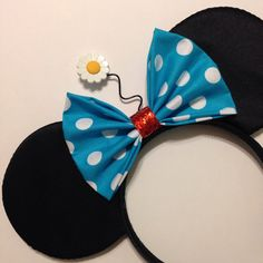 Vintage Minnie Inspired Mouse Ears with polka by ShopHouseOfMouse