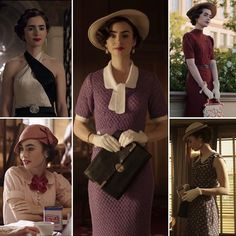 """Lily Collins on the set of """"The Last Tycoon"""" 