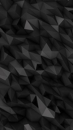 3D Black Polygons Wallpaper iPhone - Best iPhone Wallpaper