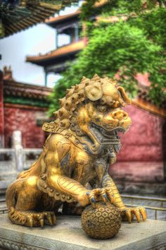 The Guardian Lion in Beijing in the Forbidden City