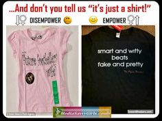 STUDENT CHALLENGE - Students view examples in Youtube video of unethical marketing to kids. In groups of 3-4, they provide reasons why/why not these shirts may be offensive/appealing. They then find 2-3 examples of good taste in advertising, listing why it is or isn't appealing. Groups present findings to the class.