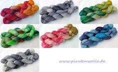 Sockenwolle frisch gefärbt und eingestellt !! www.piratenwolle.de https://www.etsy.com/de/shop/Piratenwolle