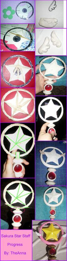 Sakura Star Staff Hoop by TheAnna.deviantart.com