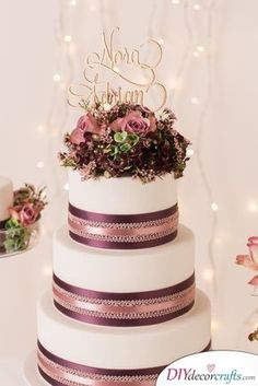 Beautiful wedding cakes and trends 2016 with Christina Krug from Schnabulerie - Hochzeitstorte - Wedding Cake - Gateau Diy Wedding Food, Small Wedding Cakes, Beautiful Wedding Cakes, Mod Wedding, Beautiful Cakes, Wedding Blog, Wedding Trends, Wedding Ideas, Wedding Cake Decorations