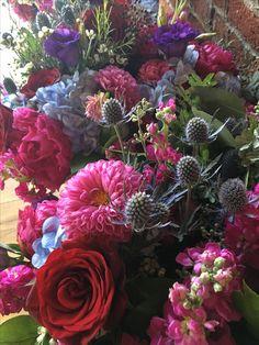 Beautiful jewel toned bridesmaid bouquet