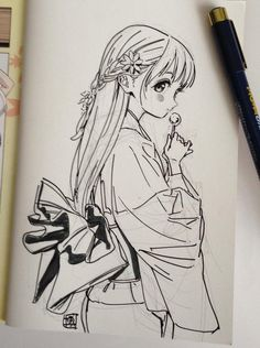 Healthy meals to lose weight delivered to your door for a room ideas Manga Anime, Art Manga, Manga Drawing, Anime Chibi, Anime Art Girl, Anime Drawings Sketches, Anime Sketch, Kawaii Drawings, Anime Art Fantasy