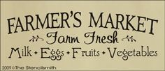 farmer's market sign:  meat, milk, eggs, fruits, veggies, honey, soaps, crafts. LOCAL.