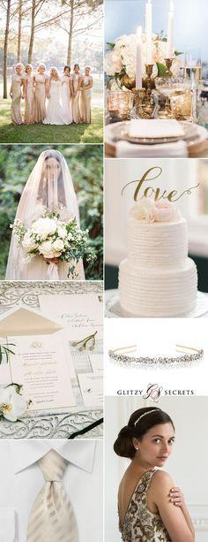 Champagne wedding colors Elegance Wedding Palette Pinterest