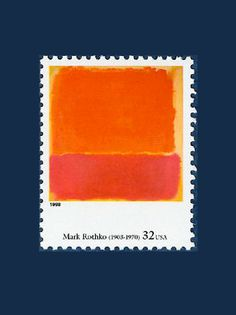 POSTAGE STAMPS: Mark Rothko USA