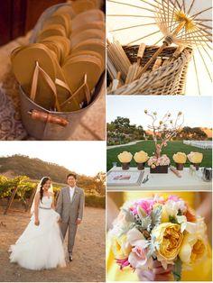 Yellow & pink vineyard wedding #2