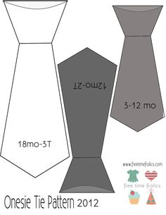 baby size Bow Tie Template | Free Time Frolics: Onesie Neckties {Big Boy Style}
