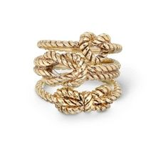 Gold knot rings