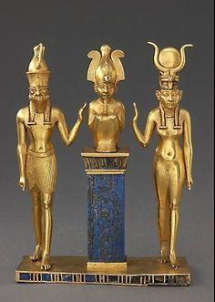 Pendant with the Name of King Osorkon II: the God Osiris's Family Third Intermediate Period, 22nd Dynasty, reign of Osorkon II (874-850 BC)