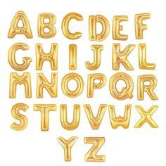 Balão Metalizado Letras Dourado