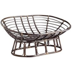 Papasan Double Chair Frame - Brown | Pier 1 Imports
