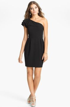 The cutest little black dress. Loving the one shoulder style.