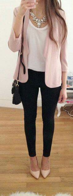 Pinterest: iamtaylorjess | Soft pink | Casual Friday outfit for work