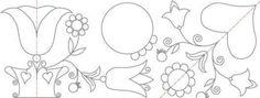 Poteva la brava Dalmazia, esecutrice del lenzuolino, non conoscere il significato dei motivi tipici di questa tecnica??? Certo che no Eccoli, li ha scritti nei commenti;... dato però che non tutti vanno a leggereli meglio postarli: il tulipano: la fede...