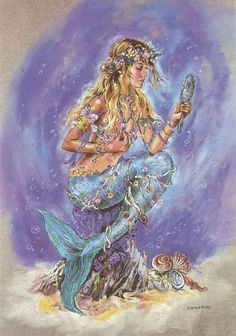 I love all fantasy and mythical stuff, but my favorite ones are mermaids.So this is a collection of mermaid images I've been picking all over the internet. Fantasy Creatures, Mythical Creatures, Sea Creatures, Fantasy Mermaids, Mermaids And Mermen, Art Magique, Creation Art, Mermaid Fairy, Merfolk