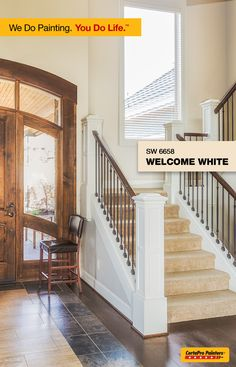 Leave a lasting first impression by choosing a neutral paint color for your foyer. It will brighten the room and make your guests feel welcome.