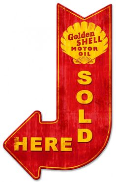 Shell Motor Oil Sold Here Grunge Sign 24 x 15 USA Made Powder Coated Steel Vintage Style Retro Gas Oil Garage Art Wall Decor  SHL252 by HomeDecorGarageArt on Etsy