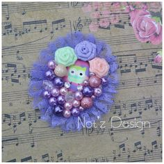 cabochon pearl brooch , code : , order-->> line: notzdesign , WA Pearl Brooch, Fabric Flowers, Brooches, Hair Bows, Headbands, Crochet Earrings, Gallery, Jewelry, Design