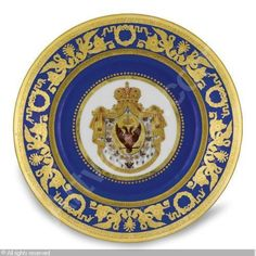 IMPERIAL PORCELAIN MANUFACTURE (Russia) - A DESSERT PLATE FROM THE CORONATION SERVICE OF NICHOLAS I