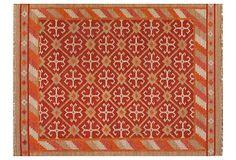 Cresson Flat-Weave Rug, Red/Taupe on OneKingsLane.com